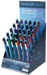 Schneider Slider Memo golyóstoll display (30db) 0.7mm, kupakos - Vegyes színek (TSCMEMV30)
