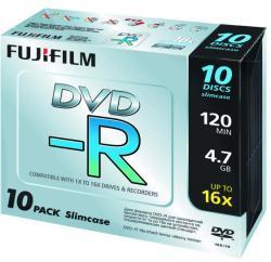 Fujifilm DVD-R 4.7GB 16x - Vékony tok 10db