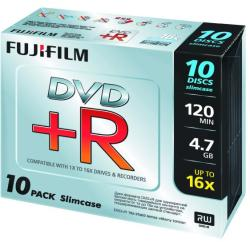 Fujifilm DVD+R 4.7GB 16x - Vékony tok 10db