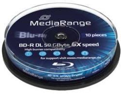 MediaRange Blu-Ray BD-R 50Gb 6X - Henger 10db Dual Layer