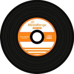MediaRange CD-R 700MB 52X - шпиндел 50бр. Vinyl Printable