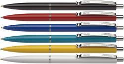 Schneider K15 golyóstoll készlet (50db) 0.5mm, nyomógombos, vegyes színű tolltestek - Kék (TSCK15V50)