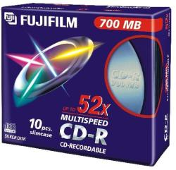 Fujifilm CD-R 700MB 52x - Vékony tok 10db
