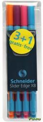 Schneider Slider Edge XB golyóstoll készlet (4db) 0.7mm, kupakos - Extra színek (TSCSLEXBV4E)