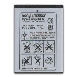 Sony Ericsson Li-Polymer 780 mAh BST-36
