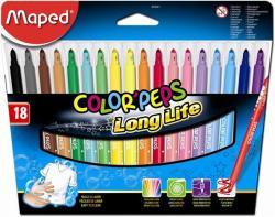 Maped Color'Peps filctoll készlet (18db) ruhából könnyen kimosható - 18 különböző szín (IMA845021)