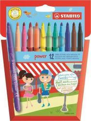 STABILO Power filctoll készlet (12db) 2mm - 12 különböző szín (TST28012)