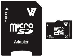 V7 MicroSDHC 16GB Class 10 VAMSDH16GCL10R-2E