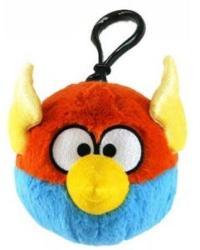 Commonwealth Toy Angry Birds Space Világoskék villámmadár plüss hátizsákcsat