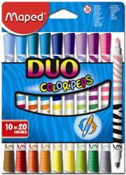 Maped Color'Peps Duo filctoll készlet (20db) ruhából könnyen kimosható - 20 különböző szín (IMA847010)