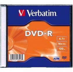 Verbatim DVD-R 4.7GB 16X 1 бр.