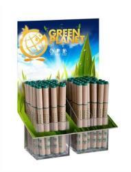 ICO Green golyóstoll display (64db) kupakos, papír tolltest - Kék (TICGRP64)