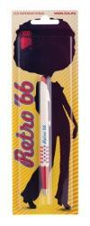 ICO Retro 66 golyóstoll 0.8mm, nyomógombos, vegyes tolltest - Kék (TIC66)
