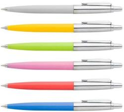 ICO Polo golyóstoll készlet (60db) 0.8mm, nyomógombos, vegyes tolltest - Kék (TICPOCOL)