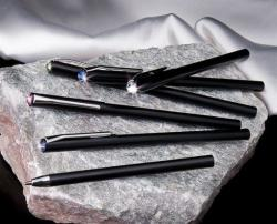 Swarovski Made With Swarovski Elements golyóstoll, fehér kristályokkal díszítve (TSWG009)