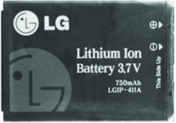 LG Li-ion 750 mAh LGIP-411A