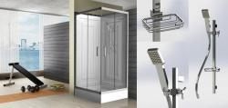 Wellis Mobili 90x90x214,5 cm zuhanytálcával szögletes (WC00310-3)