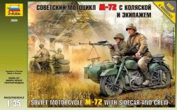 Zvezda Soviet WWII Motorcycle M-72 1/35 3639