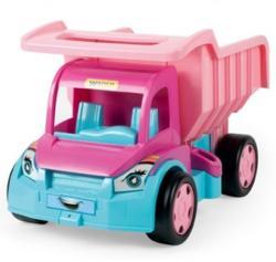 Wader Gigant Truck rózsaszínű óriás dömper 150 kg-os teherbírással