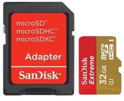 SanDisk MicroSDHC Extreme Plus 32GB UHS-I Class 10 SDSDQX-032G-U46A
