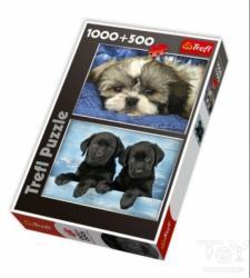 Trefl Kölyökkutyák és fekete labrador 1000 + 500 db (29114)