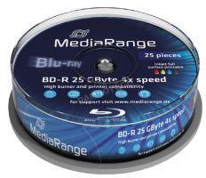 MediaRange Blu-ray BD-R 25Gb 4X 25бр.