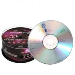 MediaRange CD-R 700Mb 52X 25 бр. PRINT