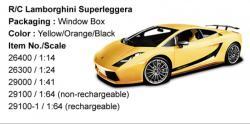 Rastar Lamborghini Superleggera 1:24