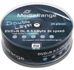 MediaRange DVD+R DL 8.5Gb 8X 25 бр.