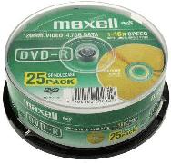 Maxell DVD-R 4.7Gb 16X 25 бр.
