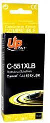 Utángyártott Canon CLI-551BK XL Black