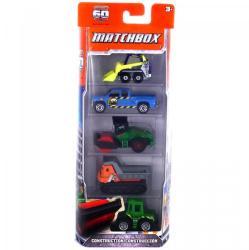 Mattel Matchbox - 5 db-os készlet - Construction kisautók