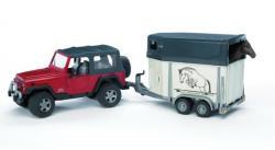 BRUDER Jeep Wrangler lószállitóval