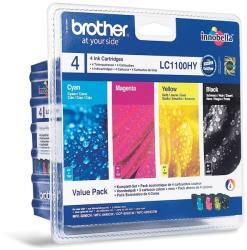 Brother LC1100HYVALBP High Yield Value Pack (BK/C/M/Y)