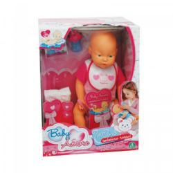 Flair Pipi Popó interaktív lány baba rózsaszín ruhában