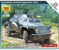 Zvezda Sd.Kfz.222 Armored Car 1/100 6157