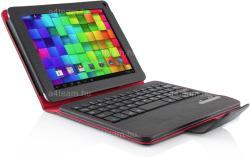 "MODECOM Tablet Folio with Bluetooth Keyboard 9""-10"" - Black/Red (TKC10BT)"