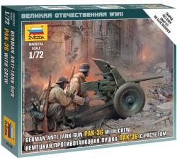 Zvezda German gun Pak-36 with Crew 1/72 6114