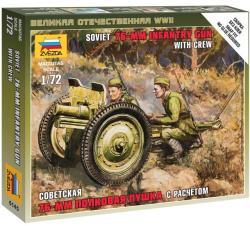Zvezda Soviet 76-mm Gun 1/72 6145