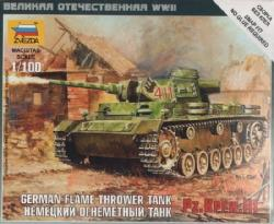 Zvezda Panzer III Flamethrower Tank 1/100 6162