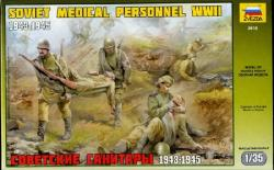 Zvezda Military Soviet Medical Personnel WWII 1/35 3618