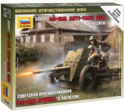 Zvezda Soviet Gun 45mm 1/72 6112