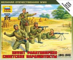 Zvezda Soviet Paratroops 1/72 6138
