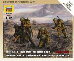 Zvezda British Mortar w/Crew 1939-42 1/72 6168