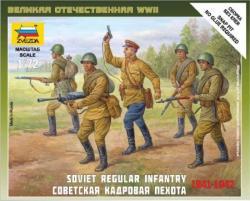 Zvezda Soviet Regular Infantry 1941-42 1/72 6179