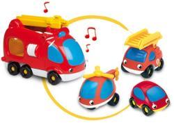 Smoby Buborék tűzoltó járművek - 4 db-os szett