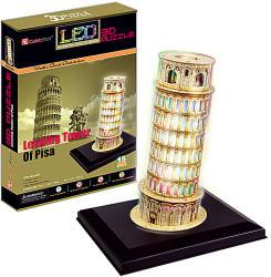 CubicFun 3D Világító puzzle - Pisai ferde torony 15 db
