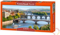 Castorland Prága hídjai 4000 db-os (C-400096)
