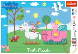 Trefl Peppa lovag 15 db-os (31152)