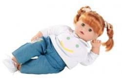Götz Maxy Muffin baba, zöld szemű, vörös hajú, 42 cm